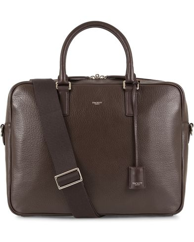 Hackett Pebble Document Briefcase Brown  i gruppen V�skor / Portf�ljer hos Care of Carl (13135610)
