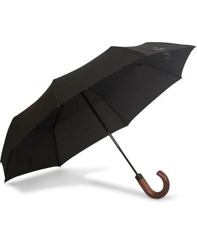 Hackett Wood Handle Umbrella Black  i gruppen Assesoarer / Paraplyer hos Care of Carl (13136010)
