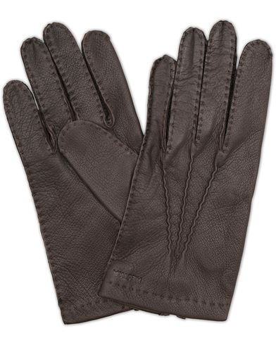 Hestra Henry Unlined Deerskin Glove Dark Brown i gruppen Accessoarer / Handskar hos Care of Carl (13136511r)