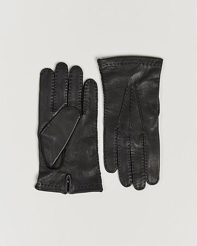 Hestra Henry Unlined Deerskin Glove Black i gruppen Säsongens nyckelplagg / Promenadhandskarna hos Care of Carl (13136611r)