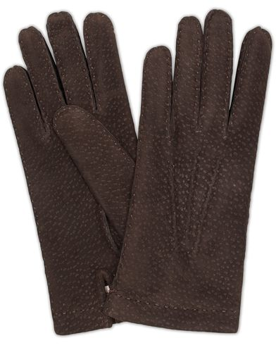 Hestra Carpincho Handsewn Cashmere Glove Espresso Brown i gruppen Accessoarer / Handskar hos Care of Carl (13137111r)