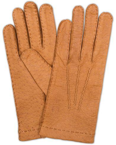 Hestra Peccary Handsewn Unlined Glove Cognac i gruppen Säsongens nyckelplagg / Promenadhandskarna hos Care of Carl (13137211r)