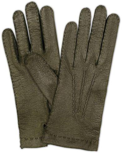 Hestra Peccary Handsewn Unlined Glove Forrest Green i gruppen Sesongens nøkkelplagg / Hanskene til spaserturen hos Care of Carl (13137511r)