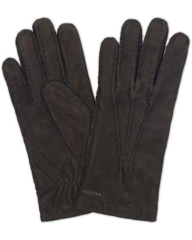 Hestra Arthur Wool Lined Suede Glove Black i gruppen Assesoarer / Hansker hos Care of Carl (13137611r)