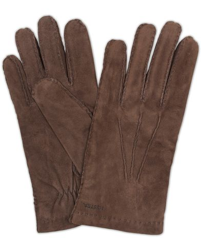 Hestra Arthur Wool Lined Suede Glove Espresso Brown i gruppen Accessoarer hos Care of Carl (13137711r)