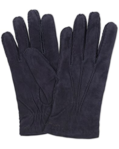 Hestra Arthur Wool Lined Suede Glove Marine Blue i gruppen Sesongens nøkkelplagg / Hanskene til spaserturen hos Care of Carl (13137811r)