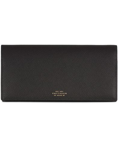 Smythson Panama Slim Travel Wallet Black Leather  i gruppen Assesoarer / Lommebøker hos Care of Carl (13138510)