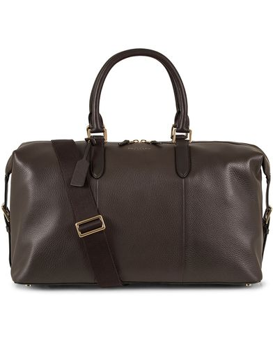 Smythson Burlington Carry on Weekendbag Brown Deerskin  i gruppen Assesoarer / Vesker / Weekendbager hos Care of Carl (13138910)