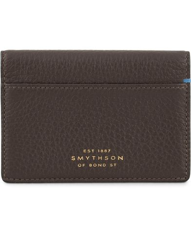 Smythson Burlington Folding Card Holder Brown Deerskin  i gruppen Accessoarer / Plånböcker / Korthållare hos Care of Carl (13139610)