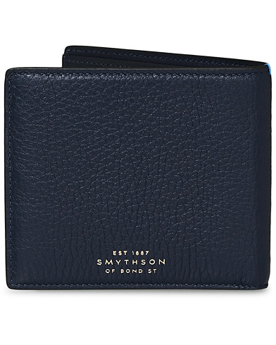 Smythson Burlington 6 Card Wallet Navy Deerskin  i gruppen Accessoarer / Pl�nb�cker hos Care of Carl (13139810)