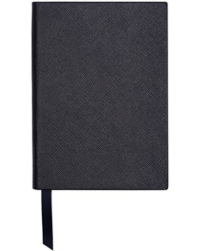 Smythson Soho Notebook Navy Crossgrain  i gruppen Assesoarer hos Care of Carl (13141410)