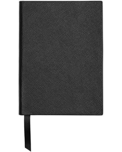 Smythson Soho Notebook Black Crossgrain  i gruppen Accessoarer hos Care of Carl (13141510)