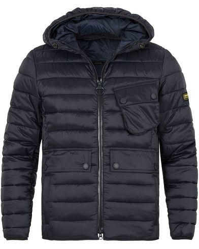 Barbour International Ouston Hooded Quilt Jacket Navy i gruppen Kläder / Jackor / Vadderade jackor hos Care of Carl (13145111r)