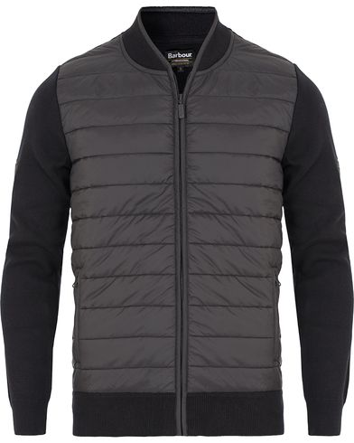 Barbour International Baffle Zip Through Sweater Black i gruppen Klær / Gensere / Zip-gensere hos Care of Carl (13145411r)