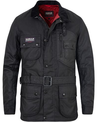 Barbour International Triumph A7 Wax Jacket Black i gruppen Jakker / Voksede jakker hos Care of Carl (13146311r)
