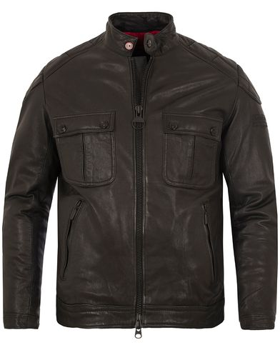 Barbour International Triumph Locking Leather Jacket Black i gruppen Jakker / Skinnjakker hos Care of Carl (13146411r)