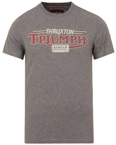 Barbour International Triumph Thruxton Tee Grey Marl i gruppen Design A / T-Shirts / Kortermede t-shirts hos Care of Carl (13146911r)