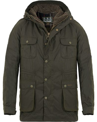 Barbour Lifestyle Brindle Wax Parka Ferm Green i gruppen Jakker / Voksede jakker hos Care of Carl (13147411r)