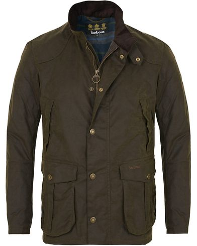Barbour Lifestyle Leeward Wax Jacket Olive i gruppen Jakker / Voksede Jakker hos Care of Carl (13147511r)