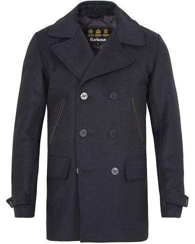 Barbour Lifestyle Batten Wool Peacoat Navy i gruppen Klær / Jakker / Skipperjakker hos Care of Carl (13148111r)