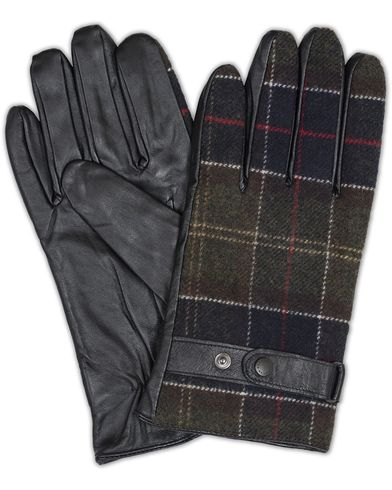 Barbour Lifestyle Tartan Gloves Black/Classic i gruppen Assesoarer / Hansker hos Care of Carl (13148911r)