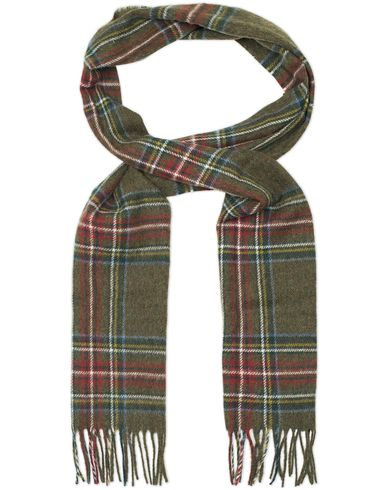 Barbour Lifestyle Lambswool Blanchlan Check Scarf Olive  i gruppen Accessoarer / Halsdukar hos Care of Carl (13149210)