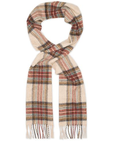 Barbour Lifestyle Lambswool Blanchlan Check Scarf Stone  i gruppen Assesoarer / Skjerf hos Care of Carl (13149310)