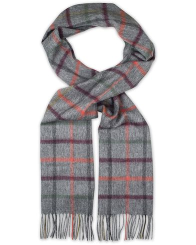 Barbour Lifestyle Lambswool Bolt Tattarsall Scarf Derby Grey  i gruppen Accessoarer / Halsdukar hos Care of Carl (13149710)