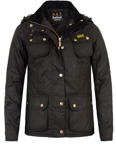 Barbour International Women Finns Wax Jacket Black i gruppen Accessoarer hos Care of Carl (13149911r)
