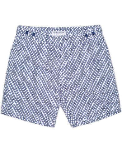 Frescobol Carioca Printed Bat Tailored Swim Shorts Navy Blue i gruppen Badeshorts hos Care of Carl (13150211r)