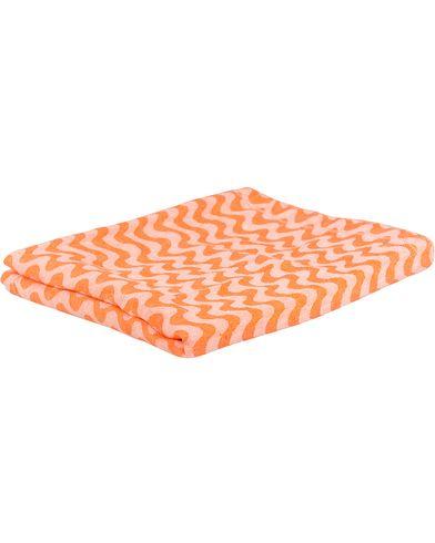 Frescobol Carioca Jacquard Sidewalk Linen Towel Orange  i gruppen Assesoarer / Livsstil / Til hjemmet hos Care of Carl (13150310)