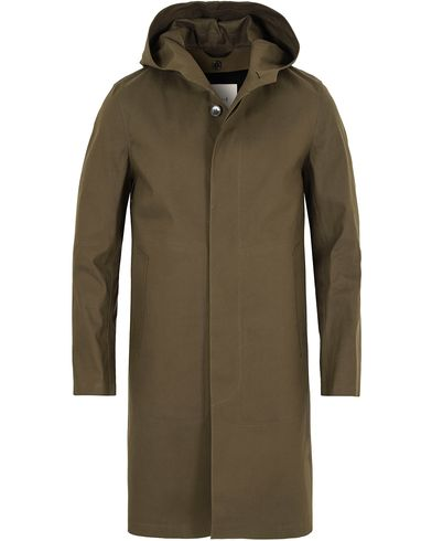Mackintosh Cotton Hooded Coat Olive Drab i gruppen Jakker / Frakker hos Care of Carl (13153111r)