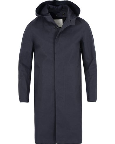 Mackintosh Cotton Hooded Coat Navy i gruppen Kläder / Jackor / Rockar hos Care of Carl (13153211r)