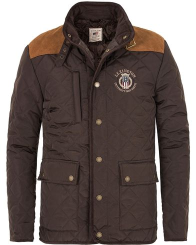 Lexington David Jacket Dark Brown i gruppen Kläder / Jackor / Quiltade jackor hos Care of Carl (13153711r)