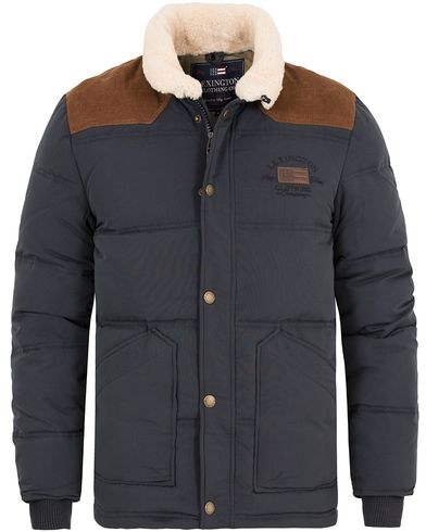 Lexington Elijah Down Jacket Deep Marine Blue i gruppen Jakker / Vatterte jakker hos Care of Carl (13154211r)