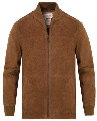 Lexington Mason Suede Jacket Cognac i gruppen Jackor / Skinnjackor hos Care of Carl (13154311r)