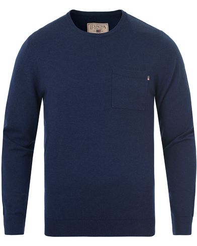 Lexington Jeff Crewneck Sweater Deepest Blue i gruppen Kläder / Tröjor / Stickade tröjor hos Care of Carl (13154511r)
