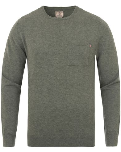 Lexington Jeff Crewneck Sweater Balsam Green i gruppen Gensere / Strikkede gensere hos Care of Carl (13154611r)