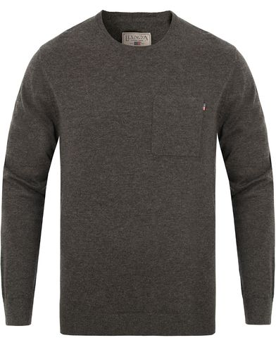 Lexington Jeff Crewneck Sweater Anthracite Grey i gruppen Klær / Gensere / Strikkede gensere hos Care of Carl (13154711r)