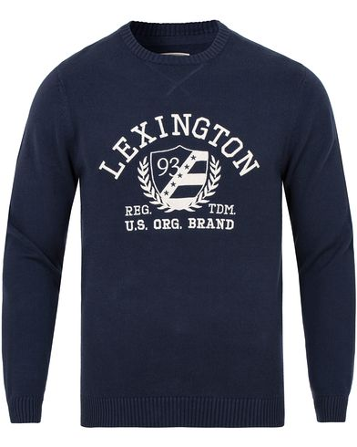 Lexington Nelson Knitted Sweatshirt Deepest Blue i gruppen Tröjor / Stickade tröjor hos Care of Carl (13155011r)