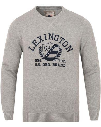 Lexington Nelson Knitted Sweatshirt Heather Grey Melange i gruppen Kläder / Tröjor / Stickade tröjor hos Care of Carl (13155111r)