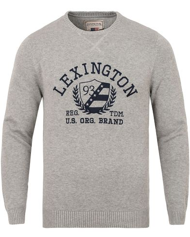 Lexington Nelson Knitted Sweatshirt Heather Grey Melange i gruppen Tr�jor / Stickade Tr�jor hos Care of Carl (13155111r)