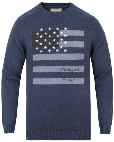Lexington Dylan Sweater Indigo i gruppen Klær / Gensere / Strikkede gensere hos Care of Carl (13155311r)