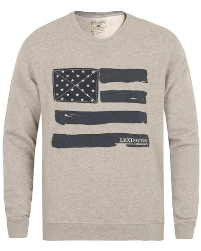 Lexington Lucas Sweatshirt Heather Grey Melange i gruppen Gensere / Sweatshirts hos Care of Carl (13155611r)