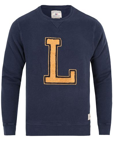 Lexington Lucas Sweatshirt Deepest Blue i gruppen Gensere / Sweatshirts hos Care of Carl (13155711r)