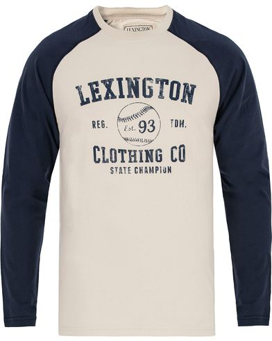 Lexington Seth Long Sleeve Tee Deepest Blue i gruppen Kläder / T-Shirts hos Care of Carl (13155911r)