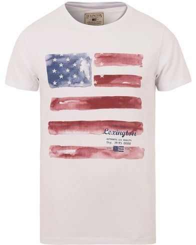 Lexington Simon Printed Tee Bright White i gruppen T-Shirts / Kortermede t-shirts hos Care of Carl (13156411r)