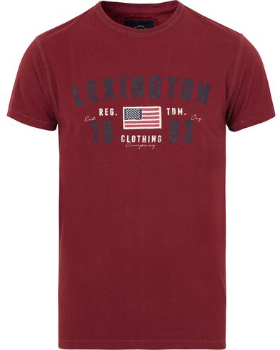 Lexington Justin Tee Cabernet Wine Red i gruppen T-Shirts / Kortärmade t-shirts hos Care of Carl (13156611r)