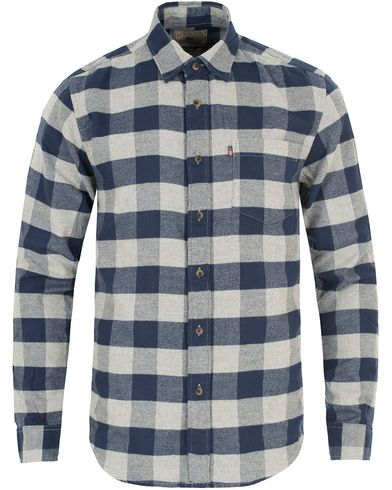 Lexington Tommy Flannel Shirt Blue/Grey Check i gruppen Skjorter / Flanellskjorter hos Care of Carl (13157211r)