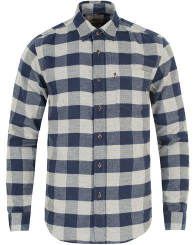 Lexington Tommy Flannel Shirt Blue/Grey Check i gruppen Kläder / Skjortor / Flanellskjortor hos Care of Carl (13157211r)